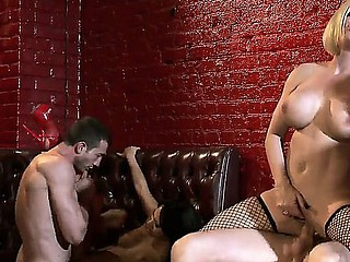 Asa Akira, Diamond Foxxx, Jessica Jaymes, Johnny Sins, Jordan Ash and Scott Nails in the luxury fucking club