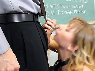 Strict instructor Erik Everhard punishes his disobediant student Molly Bennett