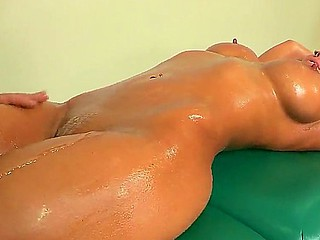 Gorgeous Nikki Sexx enjoys having a full host massage and a nice masturbation distance from hunk Ramon