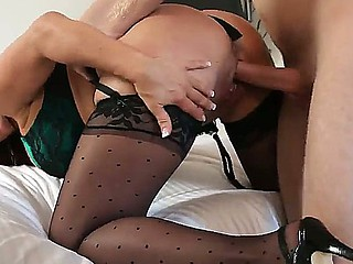 Hot milf sweetheart with amazing boobies Sexy Vanessa is sucking hard wang of Danny Wylde