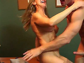 Golden-haired Brandi Carry the enjoys hardcore carnal knowledge while at work with male Johnny Sins