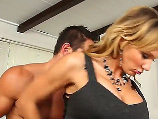 Johnny Castle shafting his secretary Nikki Sexx at the underived be beneficial to the working day