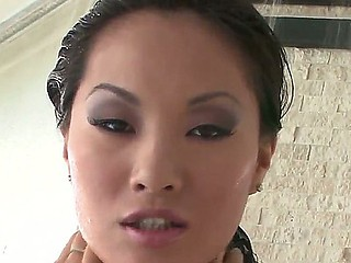 Famous Oriental pearl Asa Akira with fascinating figure and exciting eyes poses in super sexy lingerie