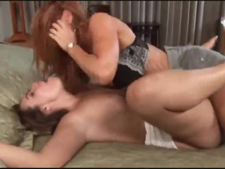 Milf redhead gets slay rub elbows with lesbian love she wishes