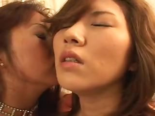Japanese angels toungue kiss erotically