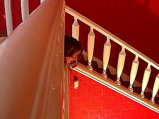 Leyla gets strapped to the staircase