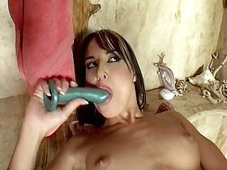 In this clip Andy Brown and Jordan were taking a shower together, but soon things got heated up between the 2 and ended up getting in a hot lesbian fuck. The clip begins with these sexy milf spreading their cunts and taking hard dildo showing in their h