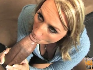 Milf joey lynn fucked by a black cock while son watches