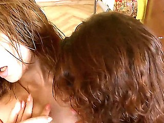 Pretty Redhead lesbos Natasha and Vika