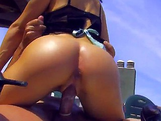 Vicky Storm makes big dick disappear