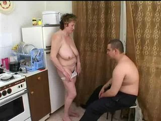Grown up Russian seduces fat boy