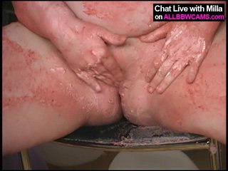 BBW model blow-out cake fun