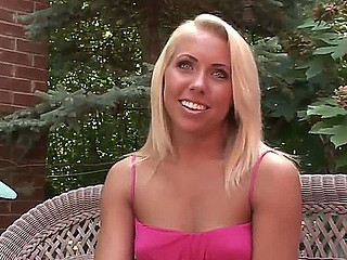 Sinless looking blonde Paige talks to