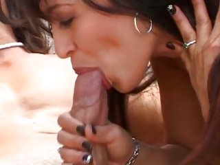 Luscious Mason Storm gets her mouth stuffed up yon dick