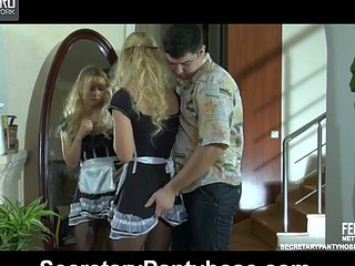 Blanch&Adam unvarying pantyhose sex video