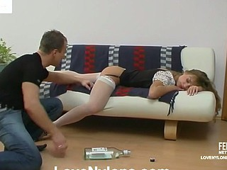 Diana&Adrian nasty nylon posture