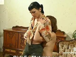 Esther&Irene mature lesbo movie scene