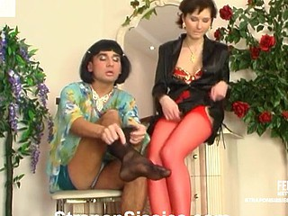 Meggy&Gilbert ding-dong sissysex action