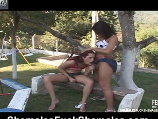 Patricia&Emily attractive lady-boys on movie scene