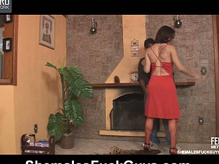 Adriana&Junior ladyboy dicking fellow on movie