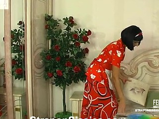 Open-minded unspecific drops prevalent for vibrator fucking with an desirous sissy housemaid