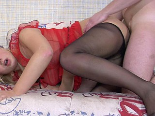 Joyce&Adam nasty nylon feet movie