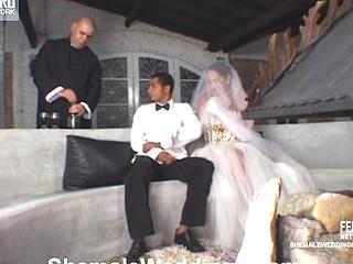 Rabeche leggy t-girl bride