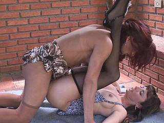 Well-endowed shemale pulling advantage be fitting of beau
