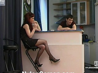 Clementina&Vitas nylon sex play