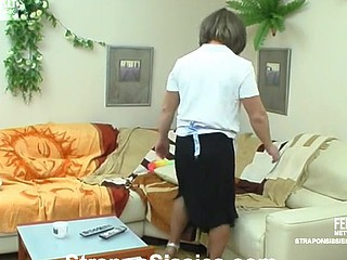 Ninette&Adrian pussyclothed dude dong act