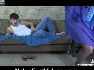 Megan&Jack sexually lustful nylon feet episode