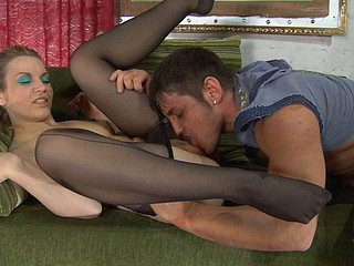 Connie&Govard nasty nylon feet movie