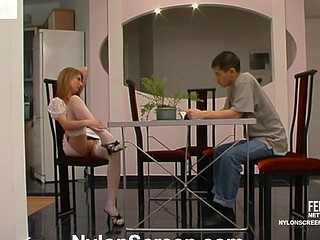Alice&Nathan sexy nylon movie