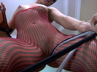 Fade videotaped during the ripen that wearing pantyhose