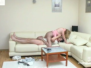 Irene&Adam nylon footsex movie chapter
