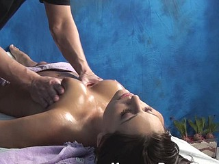 Dude massages making of sexy chick with oild regarding advance of shacking up her