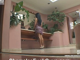 Aline&Sandro ladyboy screwing guy on clip