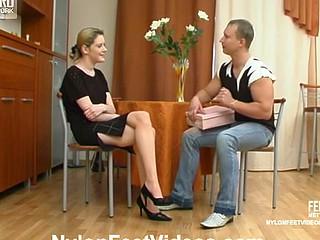 Ninette&Adrian great nylon feet movie