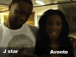 J Star and Avonte are unaffected by set and Avonte could'nt look hotter!