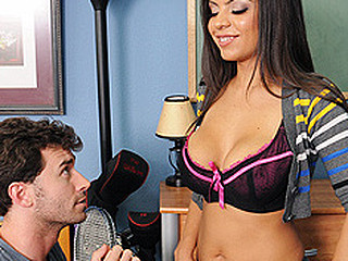 Yurizan is the RA (Resident Adviser) at college and this babe's well known for making sure everyone follows the rules. James is a recent student and this babe's making sure that man gets his room and understands all procedures, including no gals in the rooms. James sneaks  a hotty in his room and Yurizan catch him, making him pay by squeezing the last drop of cum out of his balls.