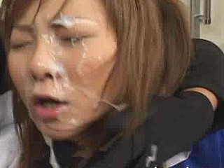 18 year old Momo Hoshino works hard to earn messy facial awards through this movie!