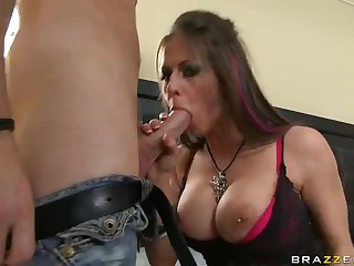 Large boobed Rachel Roxxx loves big meat pole