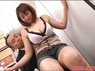 Japanese busty model titsjob