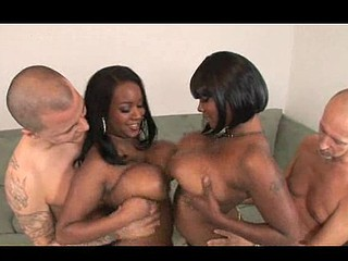 Stacy and Aline are sexy big titty darksome chicks that receive down and smutty. They fuck dicks with their big bouncy marangos getting all that stud juice on their chesticles. U have to see this massive mamery duett tag team to fortunate white dudes...