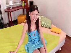 Brunette Adrianna takes on a big bad black cock and does it all