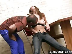 Midget dark brown feel nostalgia for goes nasty with her teacher