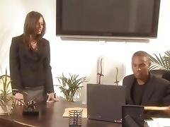 Temptress Tori Black slips her slot over a black cock